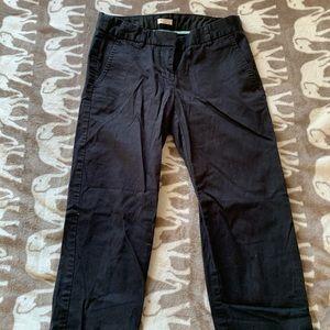 Black j crew cropped linen pants